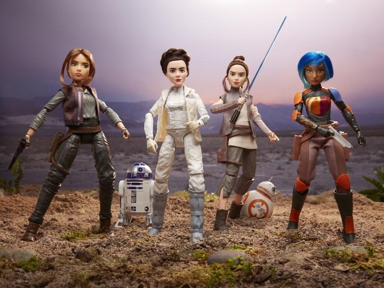 Jyn Esro, Leia Organa, Rey, Sabine Wren - Star Wars Forces of Destiny