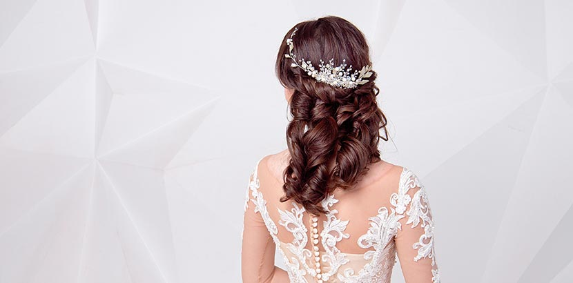 Einzigartige Hochzeit Frisuren Fur Gerade Mittellanges Haar