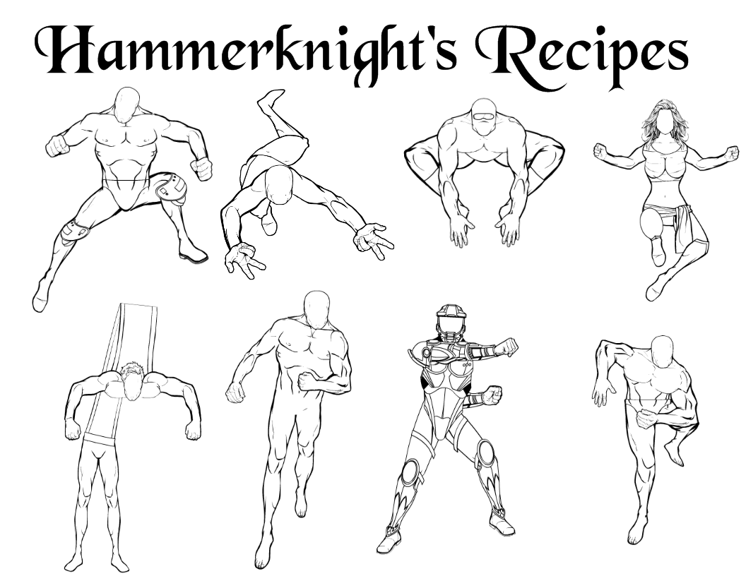 Hammerknight Recipe 7 Poses