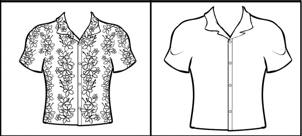 how to draw an open shirt