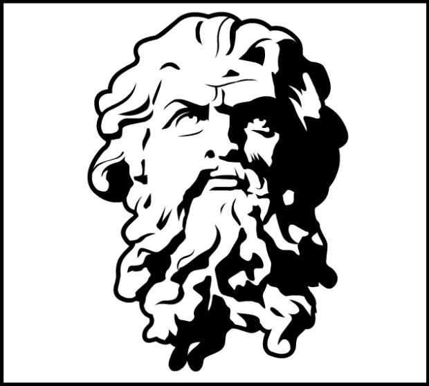 Zeus Line Drawing : By zeus heromachine character portrait creator