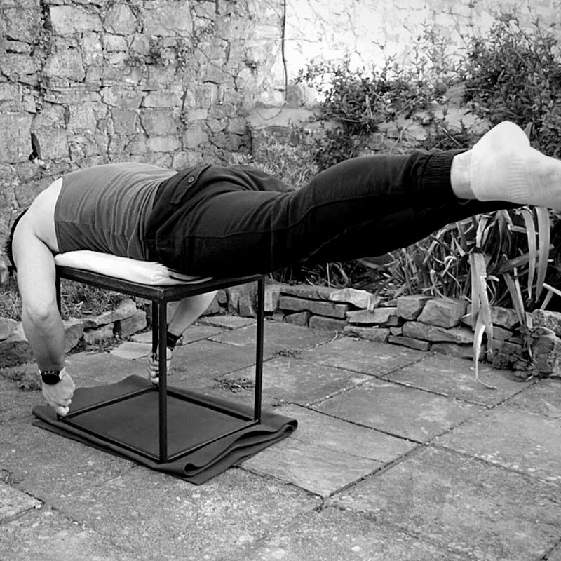 Reverse hyper lower back exercise 2