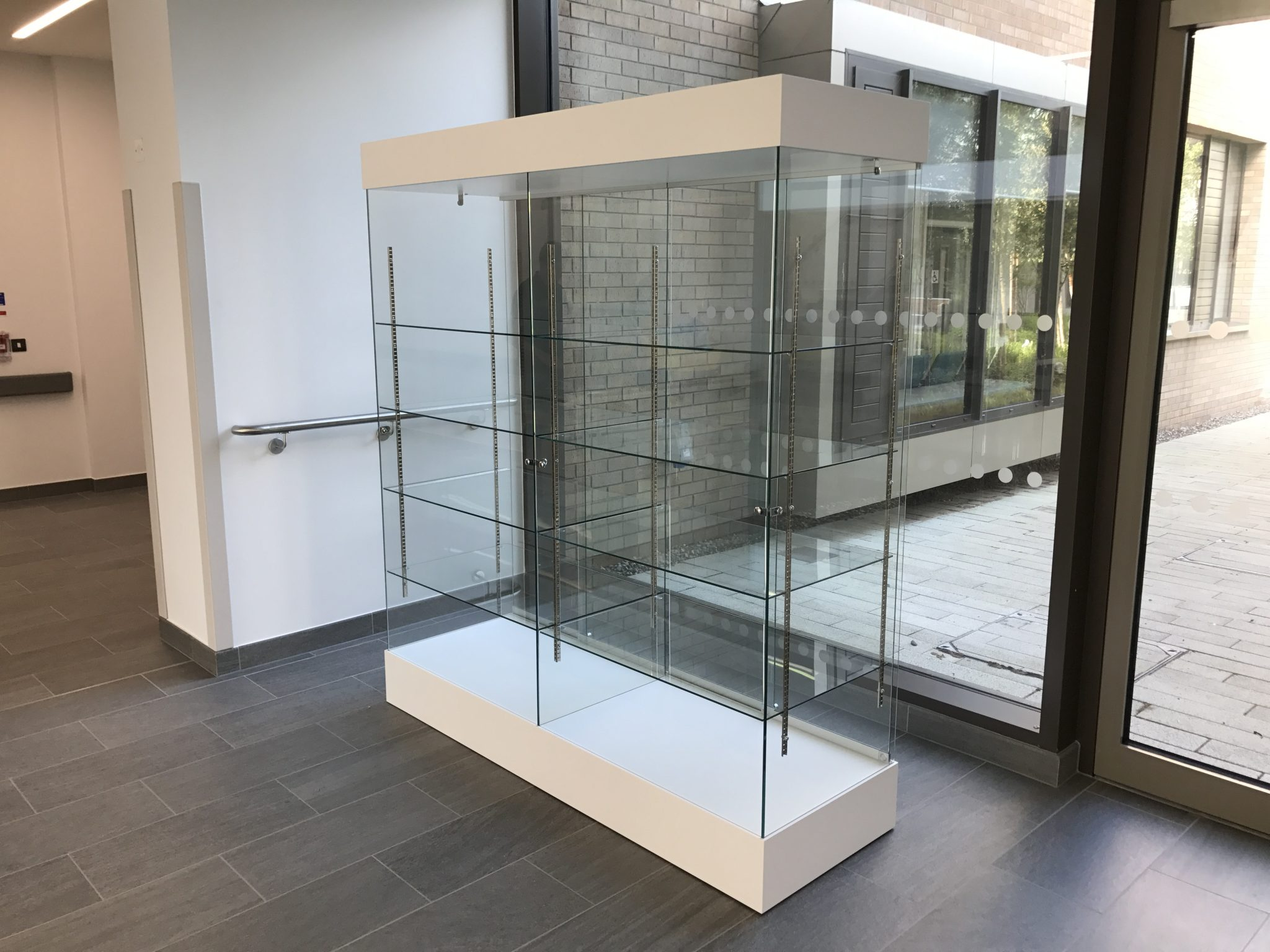 medical display cabinet for Hospital exhibition in glass and wood