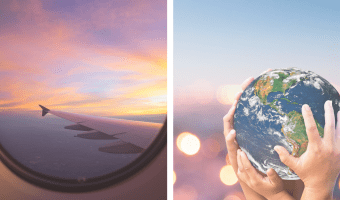 6 Tips to reduce the carbon footprint when traveling by plane
