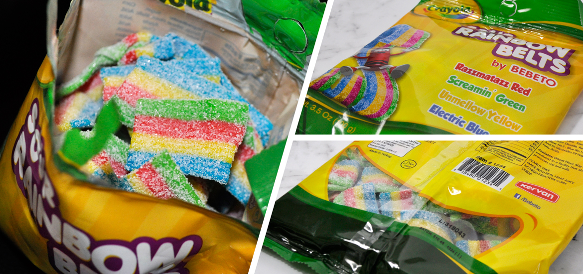 Crayola Sour Rainbow Belts