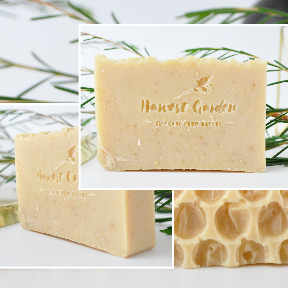 Harvest Garden Natural Handcrafted Soaps Honey + Oatmeal soap