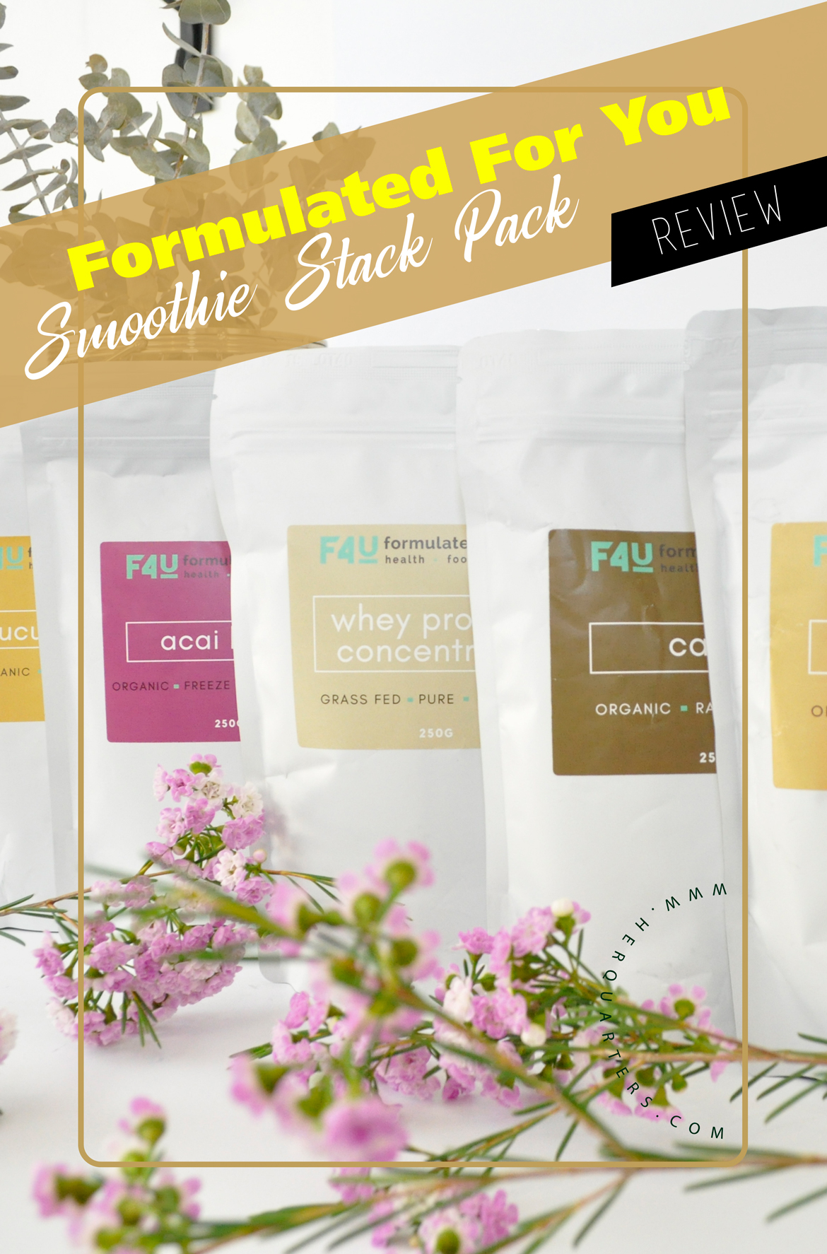 Formulated For you Smoothie Stack Pack Pinterest