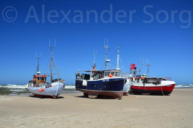 Fisherboats at Løkken
