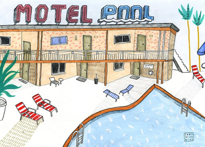 Motels 2 / Gouache, pastel y Grafito / ©2015