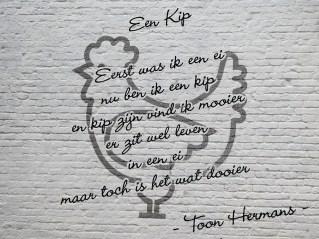 Een spreuk van Toon Hermans - Den Haag