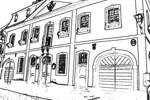 Das Erpeler Rathaus zum Ausmalen