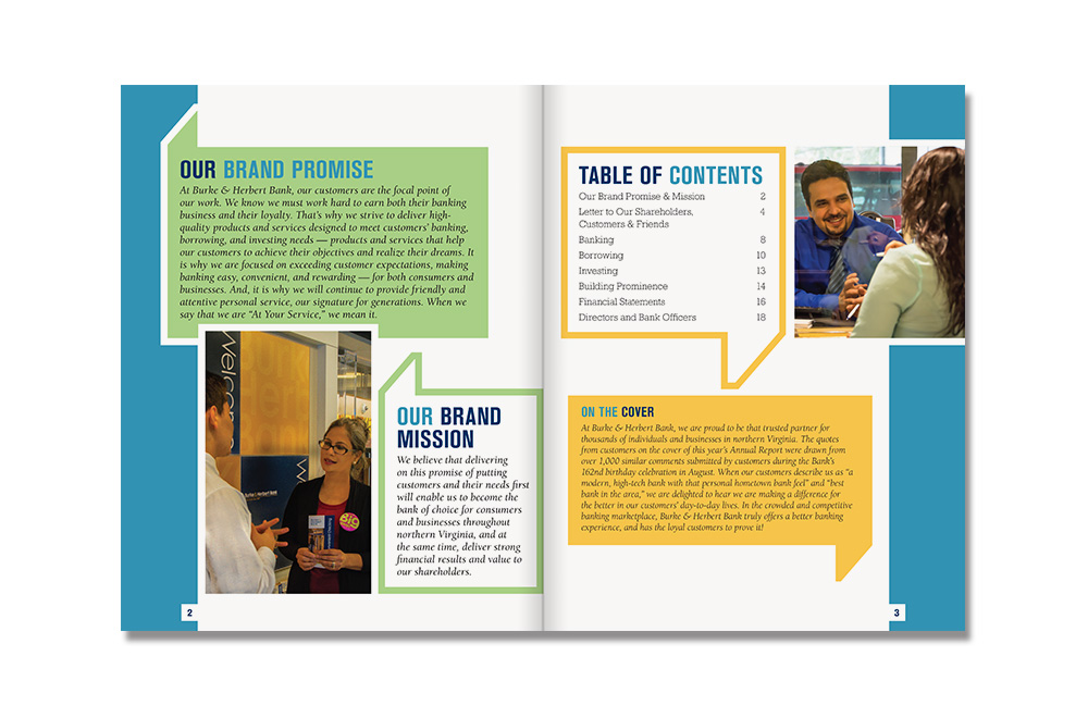 BHB Annual Report Table of Contents