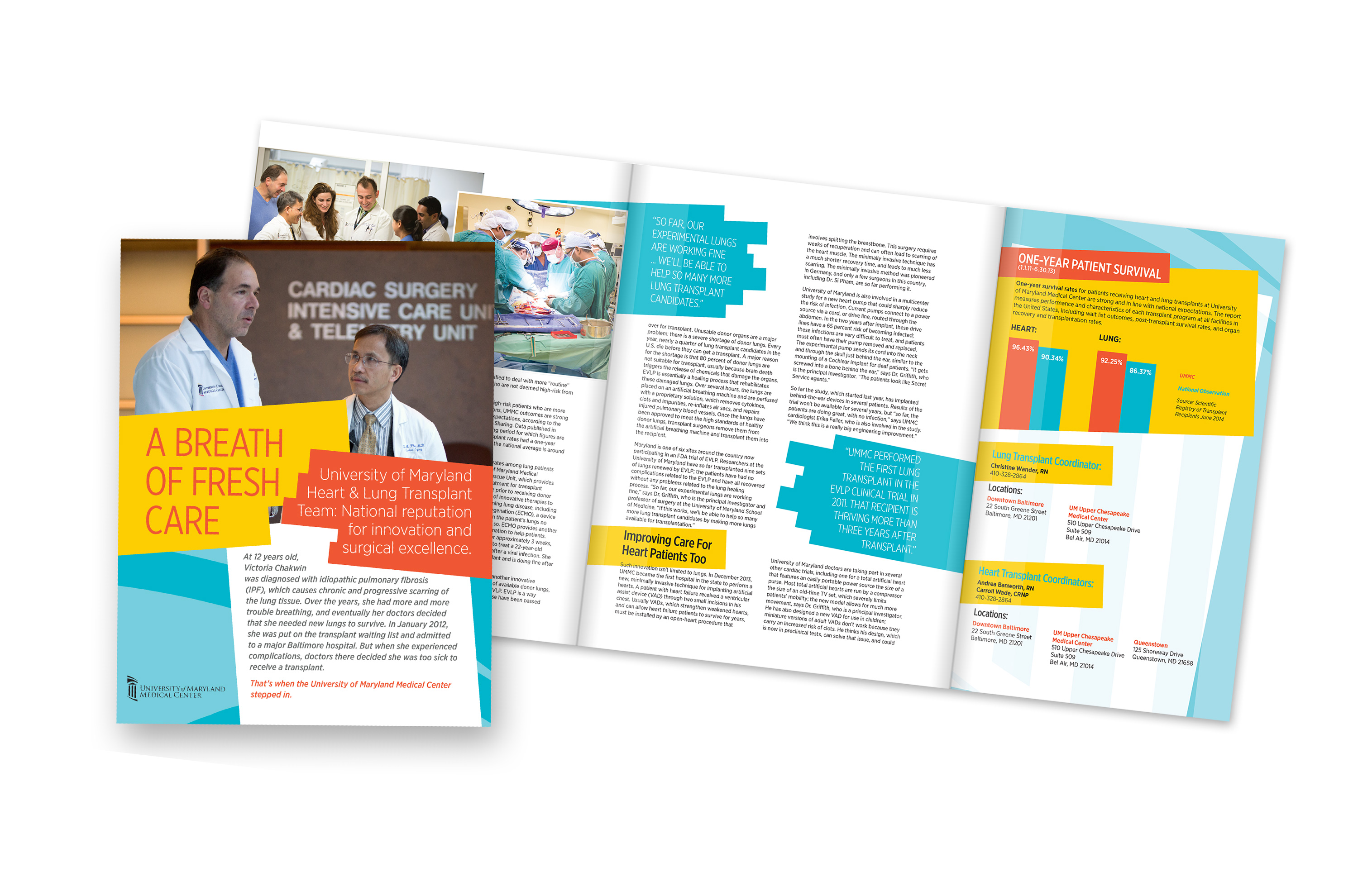 Heart and Lung transplant brochure
