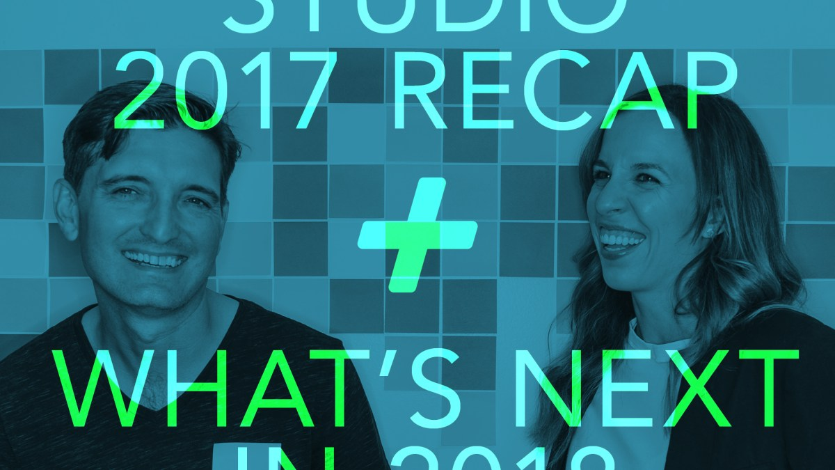 photo of studio partners, James Hersick and Laurel Webster with overlay of text