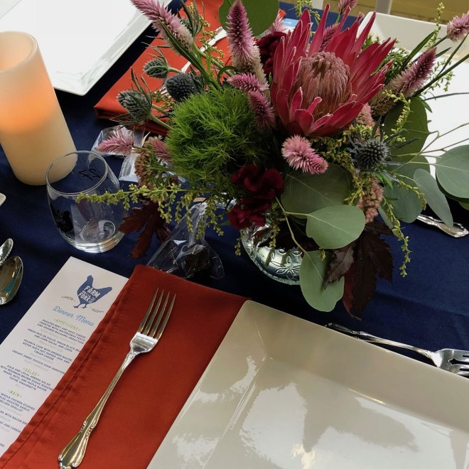 Farm 2 Fork Dinner table setting