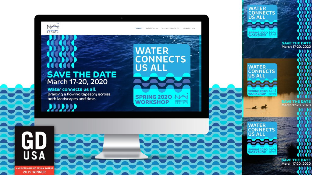 NAI Water Connects Us All, Spring 2020 Workshop Website and Social mockups