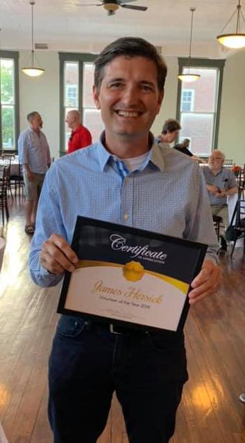 James Hersick named Main Street Martinsburg 2018 Volunteer of the Year