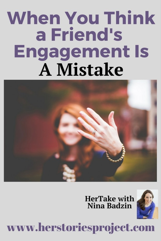 don't approve of friend's engagement
