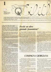 MLDA giornale lilith herstory  femminismo luoghi donne storia gruppi Roma