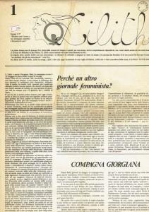 MLDA giornale lilith herstory  femminismo luoghi donne storia gruppi Roma