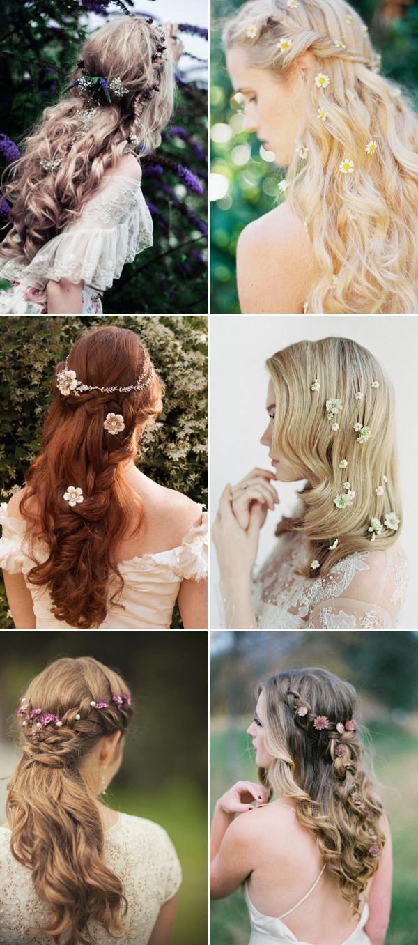 100 Romantic Long Wedding Hairstyles 2019 Curls Half