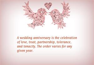 A wedding anniversary