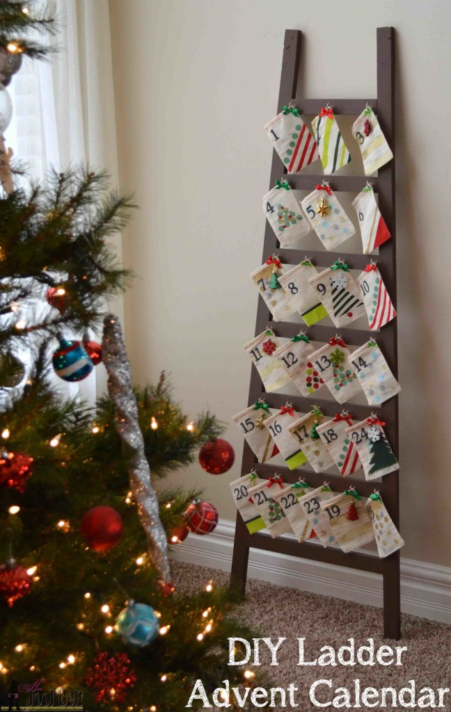 Diy ladder advent calendar
