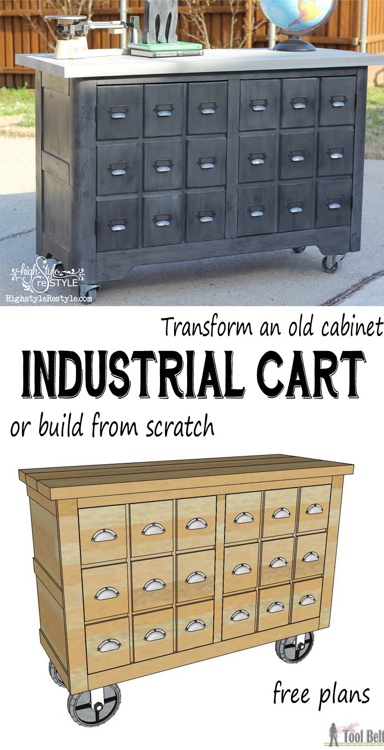 Industrial Cart Apothecary Cabinet Her Tool Belt