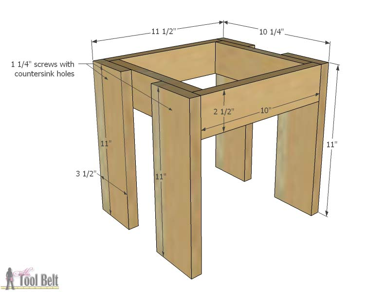 Build An Easy Table And Chair Set For The Little Kids The