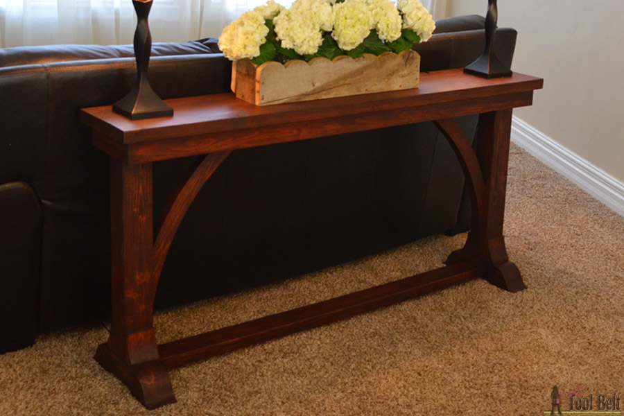 Narrow Sofa Table   Her Tool Belt Free DIY plans to build a stylish narrow sofa table for about  30