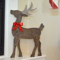 DIY Wood Reindeer