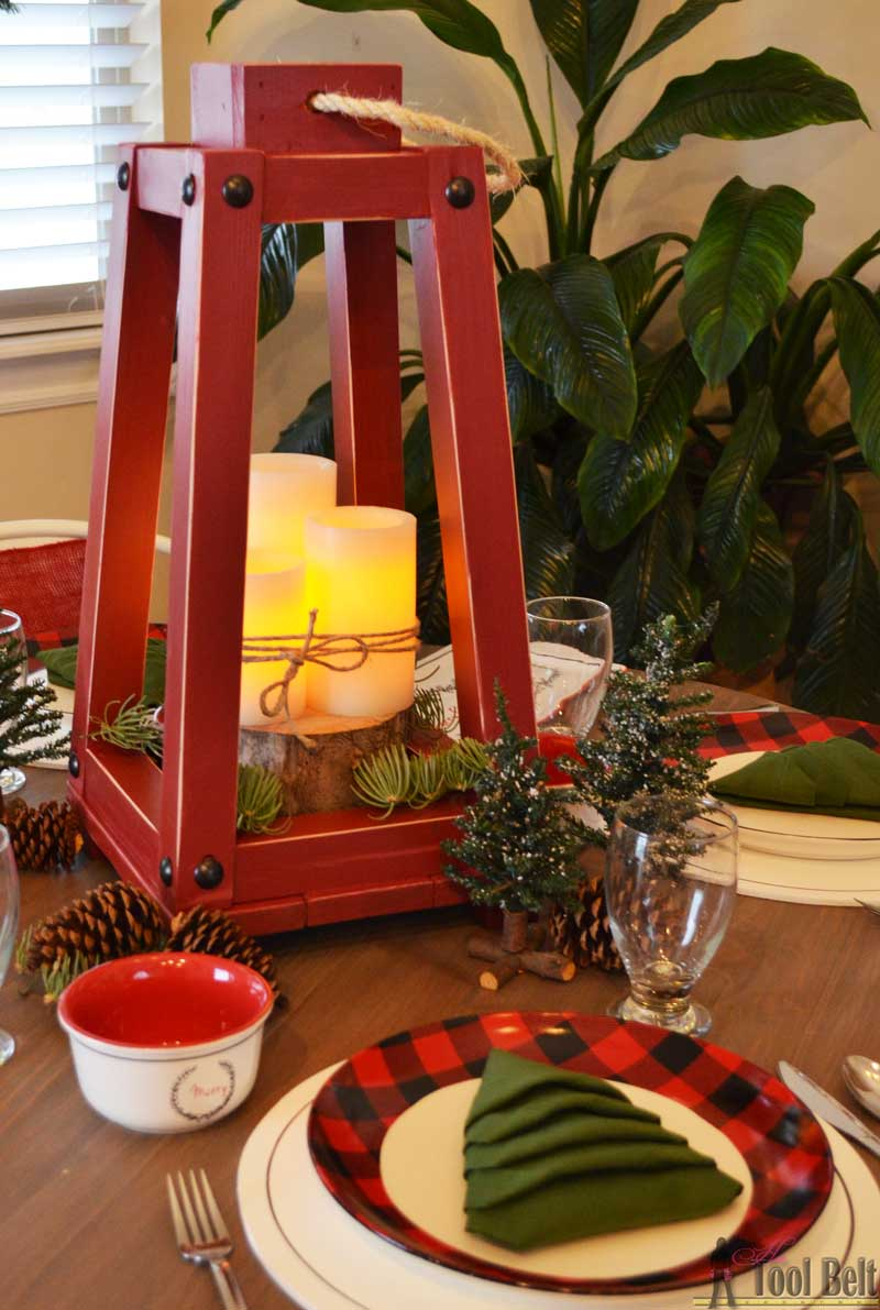 Buffalo Check Holiday Tablescape Her Tool Belt