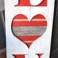 LOVE Valentine's Wood Sign