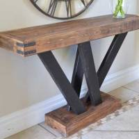 2x4 Console Table