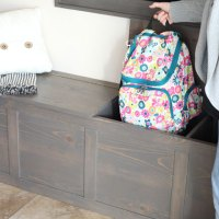 Backpack Storage Bench Plans
