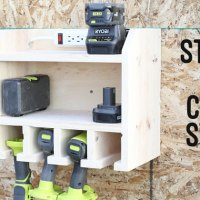 Custom Drill Storage and Charge Station - Easy