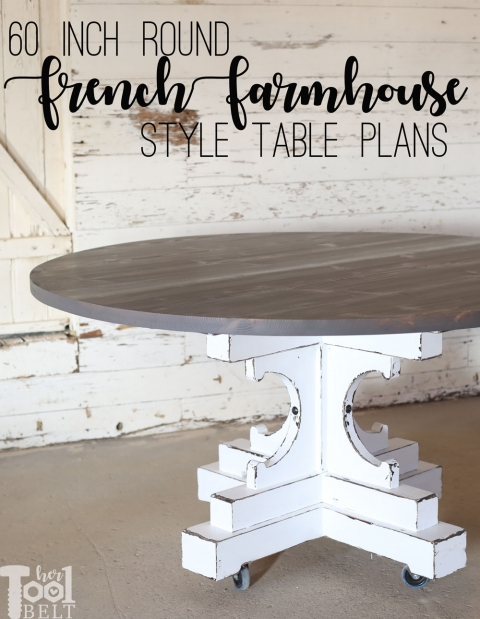 60 inch round table french farmhouse