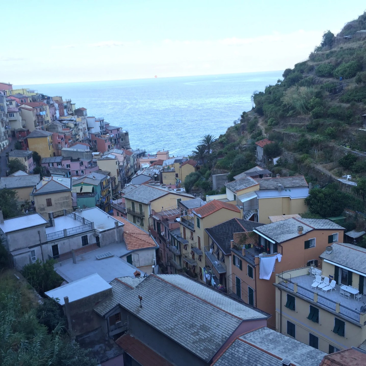 View of Manarola from our room