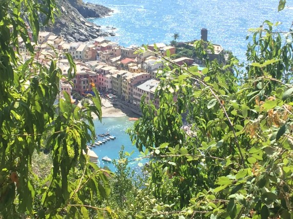 Sudden view of Vernazza that makes the hike so worthwhile!
