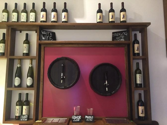 Local wine on tap!