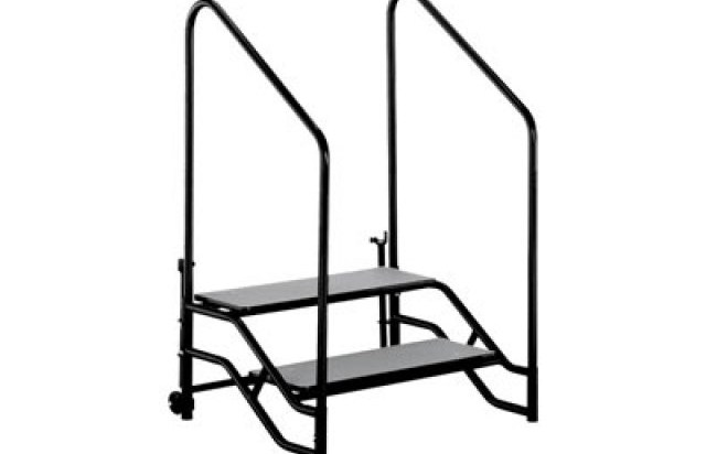 Portable Steps With Handrails For 16H Or 24H Mobile Stage | Portable Stairs With Railing