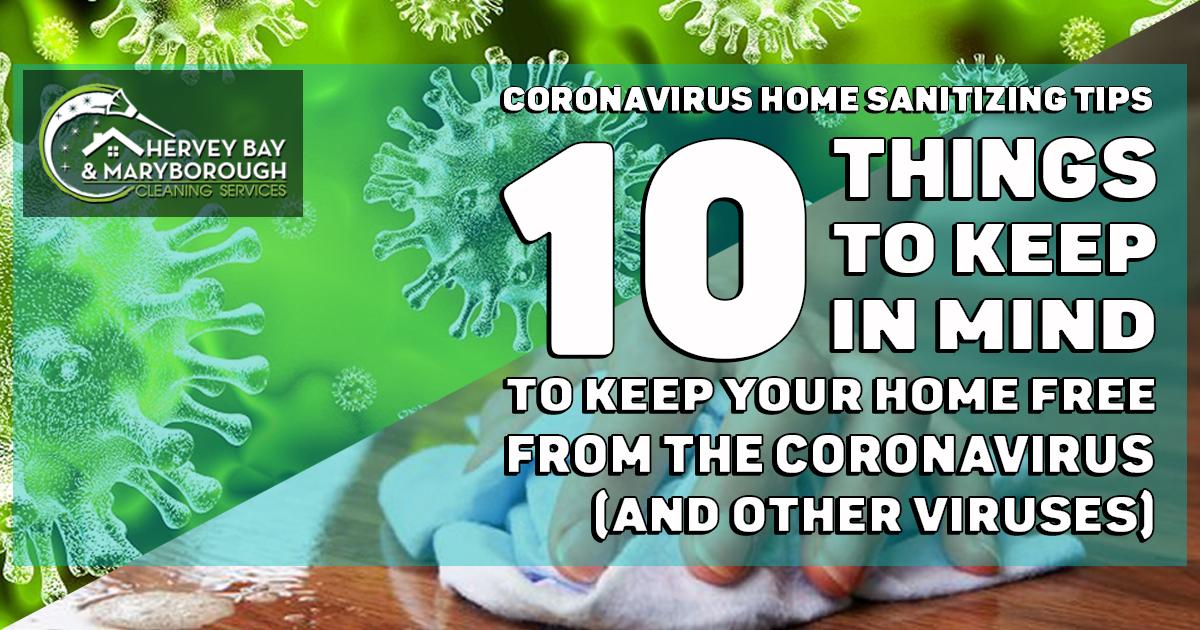Coronavirus Home Sanitising Tip