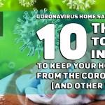 Coronavirus Home Sanitising Tips