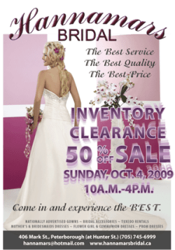 Hannimars Bridal Peterborough Sale
