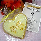 Monogram Heart Cookies
