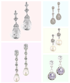 wedding jewelry earrings, bridal jewelry, www.herweddingshop,com