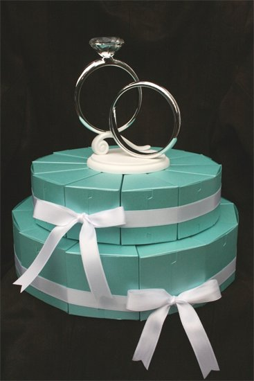 Crafty Cakes, Tiffany Paper Wedding Cake