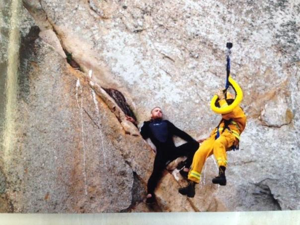 The extreme marriage proposal that turned to a rescue operation