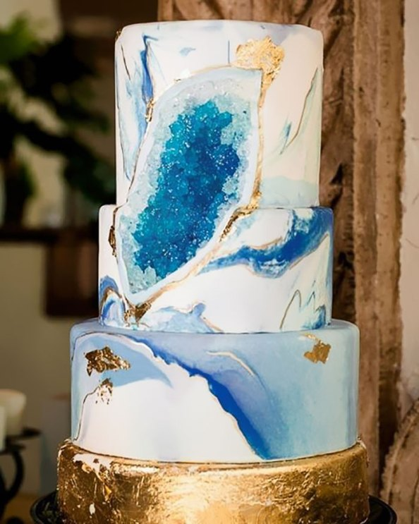 geode wedding cake 4