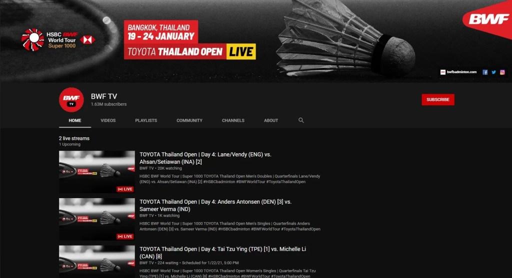 Badminton World TV BWF TV Live Indonesia VPN